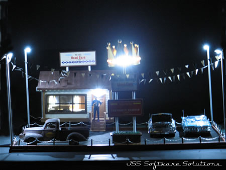 Diorama Mad Man Dunning Used Car Lot